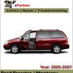 Ford Freestar 2005 2006 2007 Workshop Repair Manual – Car Service