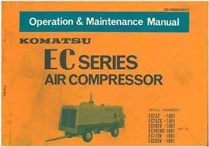 Komatsu EC Series Air Compressor Workshop Service Repair Manual