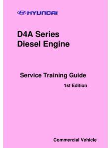 Hyundai Diesel Engine D4A, D4D Workshop Manual PDF