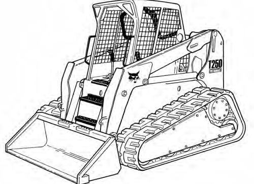 bobcat t250 compact track loader service repair manual a5gs20001
